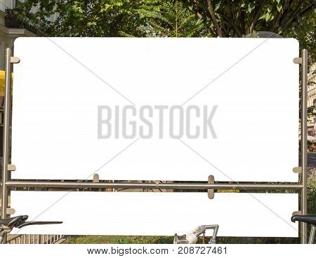 Billboard Blank White Isolated Clipping Path Outdoors Ad Space Advertisement