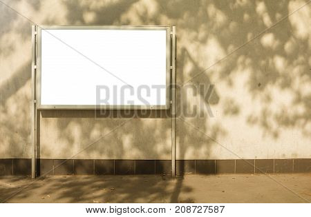 Announcement Billboard White clipping path Ad at Building