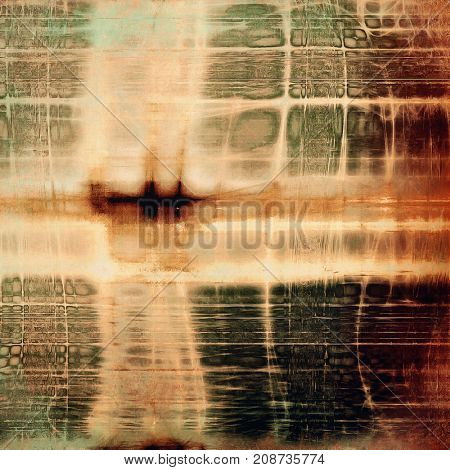 Damaged retro texture with grunge style elements and different color patterns