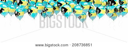 Balloons Frame With Flag Of Bahamas