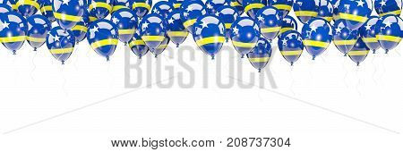 Balloons Frame With Flag Of Curacao