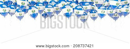 Balloons Frame With Flag Of El Salvador