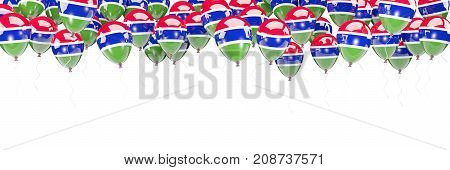 Balloons Frame With Flag Of Gambia