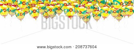 Balloons Frame With Flag Of Grenada