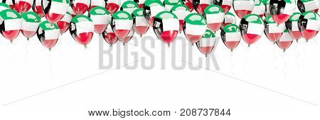 Balloons Frame With Flag Of Kuwait