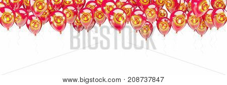 Balloons Frame With Flag Of Kyrgyzstan