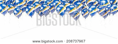 Balloons Frame With Flag Of Marshall Islands