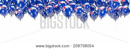 Balloons Frame With Flag Of New Zealand
