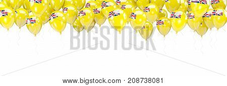 Balloons Frame With Flag Of Niue