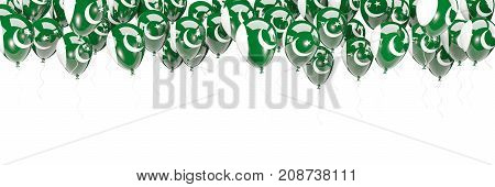Balloons Frame With Flag Of Pakistan