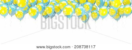 Balloons Frame With Flag Of Palau