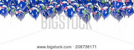 Balloons Frame With Flag Of Pitcairn Islands