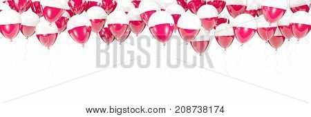 Balloons Frame With Flag Of Poland