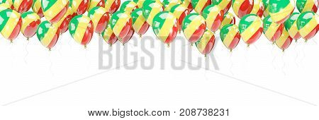 Balloons Frame With Flag Of Republic Of The Congo
