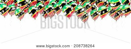 Balloons Frame With Flag Of Saint Kitts And Nevis