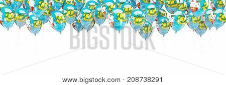 Balloons Frame With Flag Of Saint Pierre And Miquelon
