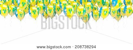 Balloons Frame With Flag Of Saint Vincent And The Grenadines