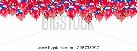 Balloons Frame With Flag Of Samoa