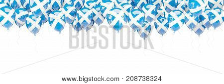 Balloons Frame With Flag Of Scotland
