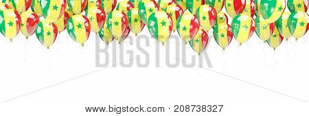 Balloons Frame With Flag Of Senegal