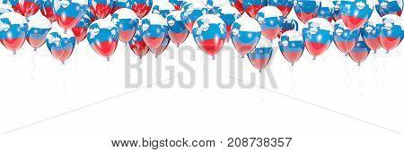 Balloons Frame With Flag Of Slovenia