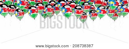 Balloons Frame With Flag Of South Sudan