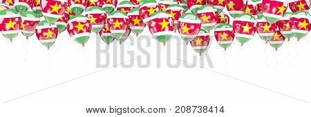 Balloons Frame With Flag Of Suriname