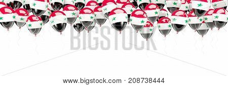 Balloons Frame With Flag Of Syria