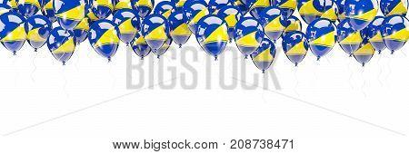 Balloons Frame With Flag Of Tokelau