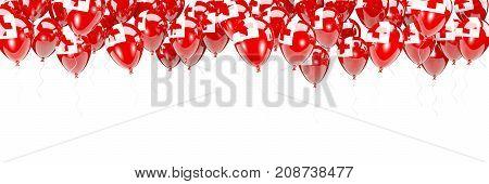 Balloons Frame With Flag Of Tonga