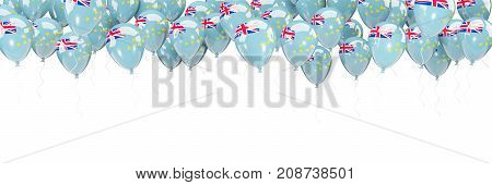 Balloons Frame With Flag Of Tuvalu