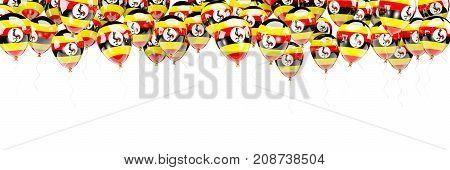 Balloons Frame With Flag Of Uganda
