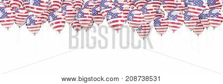 Balloons Frame With Flag Of United States Of America