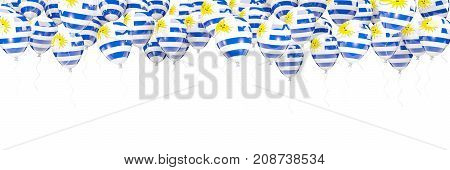 Balloons Frame With Flag Of Uruguay
