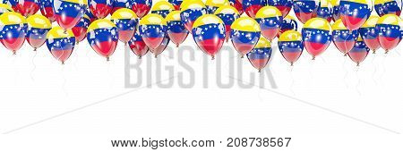 Balloons Frame With Flag Of Venezuela