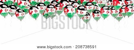 Balloons Frame With Flag Of Western Sahara