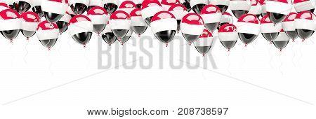 Balloons Frame With Flag Of Yemen