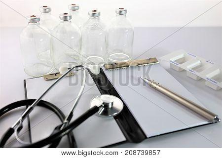 An concept image of a prescription - healthcare