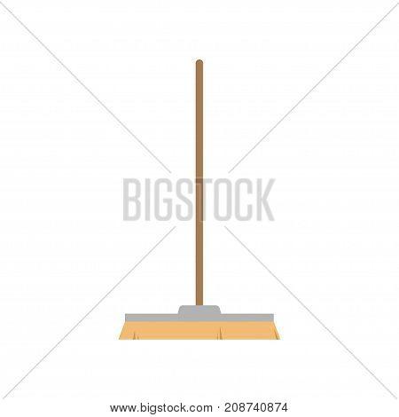 broom on white background , broom vector