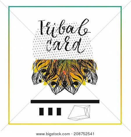 Hand drawn vector abstract modern tropical minimalistic save the date card template.Wedding, marriage, save the date, baby shower bridal, birthday, Valentine's day.Stylish simple design.Poster template