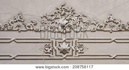 Baroque ornament detail ceiling decoration art fresco