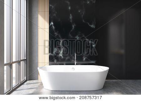 Black Marble Bathroom, Tub