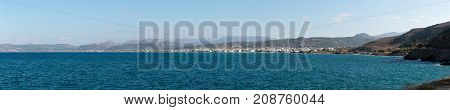 October 3rd, 2017, Chania, Greece - panoramic view of Chania, a city on the northwest coast of the Greek island of Crete.