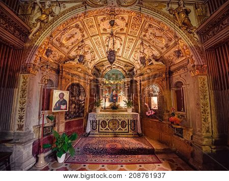Lonigo Italy - August 8 2017: The church of Our Lady of Miracles in Lonigo Italy is an example of Gothic and Renaissance architecture.