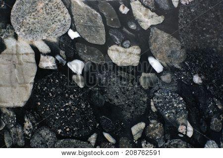 Background Natural Granite Nero Marinace.