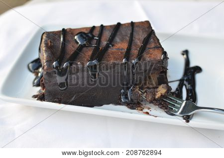 Delicious Cake With Chocolate