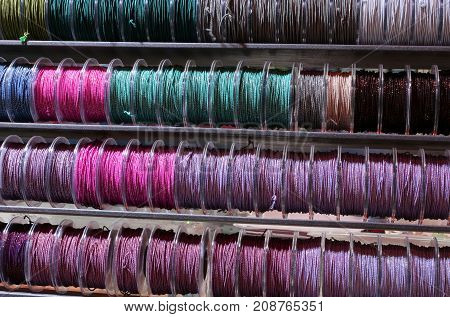 Lanyard Rolls Of Many Colors On Sale In The Hobby And Tailor Sho