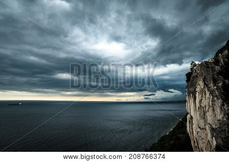 Storm Is Coming In The Gulf Of Trieste