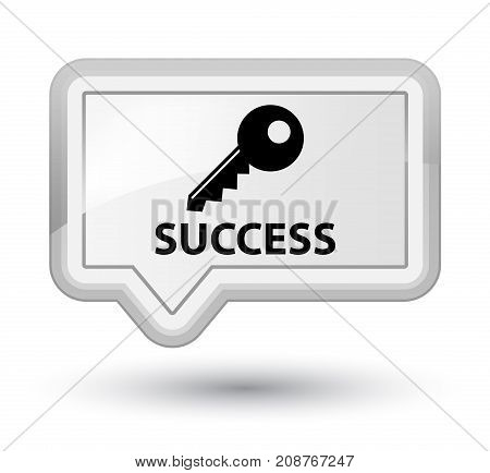 Success (key Icon) Prime White Banner Button
