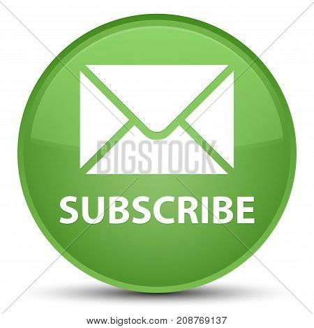 Subscribe (email Icon) Special Soft Green Round Button